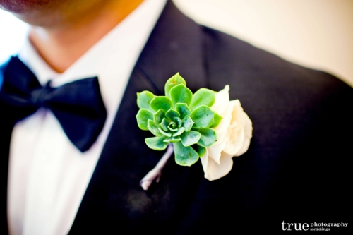the bride carried a gorgeously textured bouquet of ivory garden roses textured scabiosa pods organic succulents white freesia spray roses and fragrant - Garden Rose Boutonniere